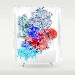 Tricolour Psychadelium Shower Curtain