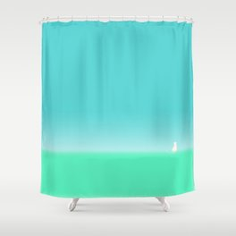 A Cat on a journey Shower Curtain