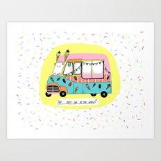 The best car in the world. Ice-cream van Art Print