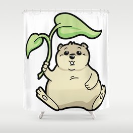 Little Chubby Happy Gopher Shading Itself Shower Curtain