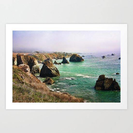 early morning on the coast Art Print