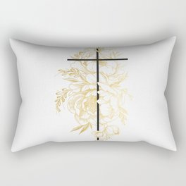 Floral Cross Rectangular Pillow