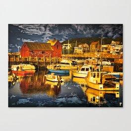 Motif Number 1 , Bearskin Neck, Rockport MA Canvas Print