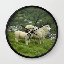 Coombe Martin Sheep  Wall Clock