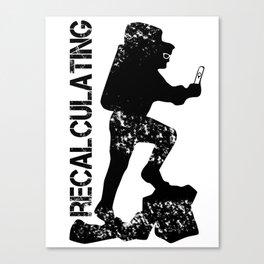 recalculating Canvas Print