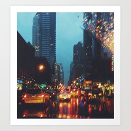 Rainy NYC Art Print
