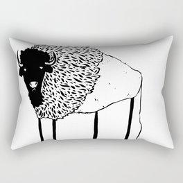 Creepy Buffalo Rectangular Pillow