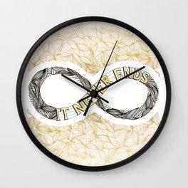 Infinity - Gold Wall Clock