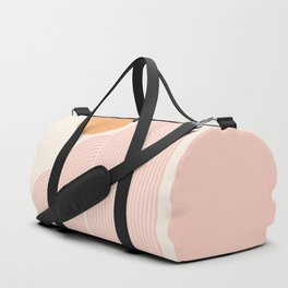 Mid Century Modern Geometric 41 in Coral Shades (Rainbow and Sunrise Abstraction) Duffle Bag