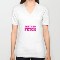mean girls V-neck T-shirts featuring Mean Girls by Maria Giorgi