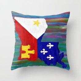 Acadiana Proud Throw Pillow