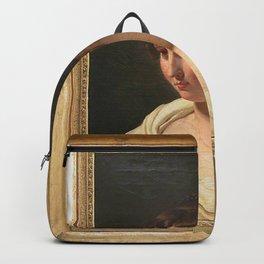 Pierre-Narcisse Guerin - Jeune femme en buste Backpack