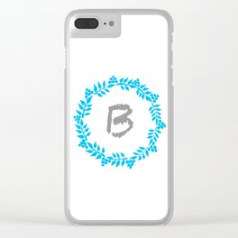 B White Clear iPhone Case