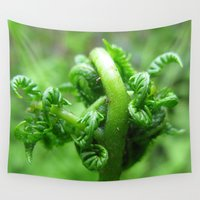 fern Wall Tapestries featuring Fern 301 by Rodapsoh