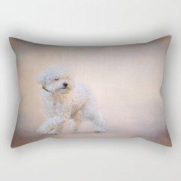 On the Go - Bichon Frise Rectangular Pillow