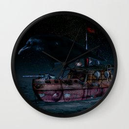 Crow Defender Wall Clock