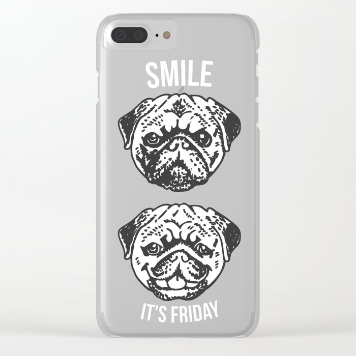 Smile It's Friday! Clear iPhone Case