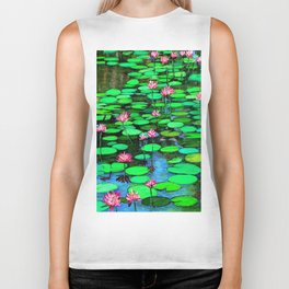 Homage to Ponds, Lilies and Lily Pads Biker Tank
