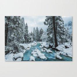 Blue Winter in Yosemite Canvas Print