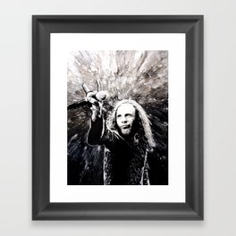 Ronnie James Dio Portrait Art Framed Art Print