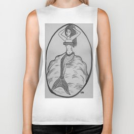 mermaid censored Biker Tank
