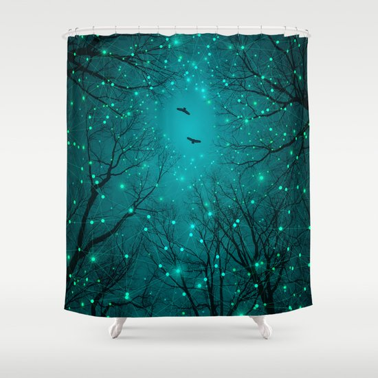 One by One, the Infinite Stars Blossomed Shower Curtain