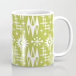 Mid Century Modern Atomic Space Age Pattern Chartreuse Coffee Mug