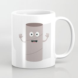 Empty Toilet paper roll with face Coffee Mug