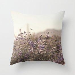 Purple Field Throw Pillow