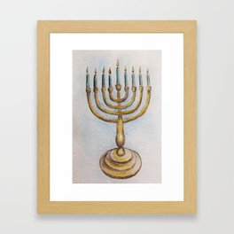 Hanukkiah MM180920a Framed Art Print