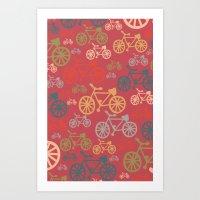 yowamushi pedal Art Prints featuring pedal by jennifer judd-mcgee