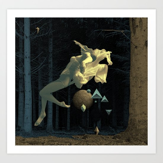 At night in the forest Art Print