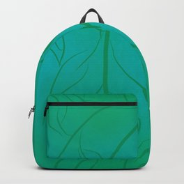 Green Squiggly Leaves  Backpack