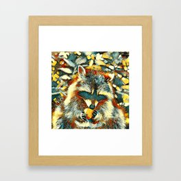 AnimalArt_Raccoon_20170901_by_JAMColorsSpecial Framed Art Print