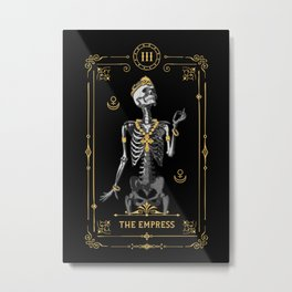 The Empress III Tarot Card Metal Print