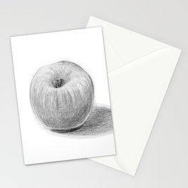 Apple Realistic Pencil Sketch Drawing Stationery Cards