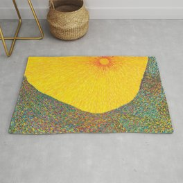 Here Comes the Sun - Van Gogh impressionist abstract Rug