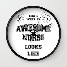 AWESOME NURSE Wall Clock
