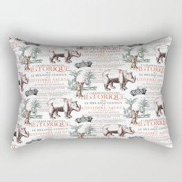 Royal Rhinoceros Rectangular Pillow