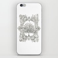 military iPhone & iPod Skins featuring Military Peacock by Vicki Jones