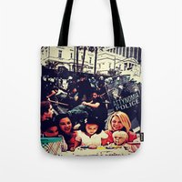 sansa stark Tote Bags featuring Stark Contrast by Silvio Ledbetter