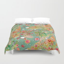 Feathers flowers showers Duvet Cover