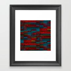 Dark reds in lines of chalk Framed Art Print