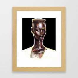 Pull Up to My Bumper Baby Framed Art Print