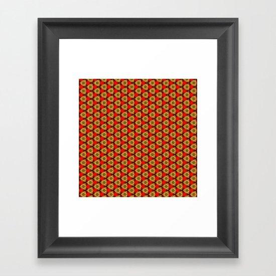 Brass Buttons Framed Art Print