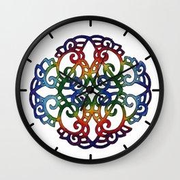 Rainbow Design Wall Clock