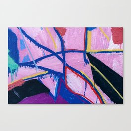 Washed Out Magenta Canvas Print