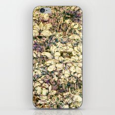 Flowers In Lilac and Cream iPhone & iPod Skin