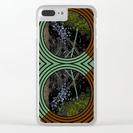 Nature Portals Pattern Clear iPhone Case
