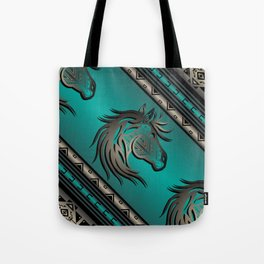Horse Nation (Aqua) Tote Bag